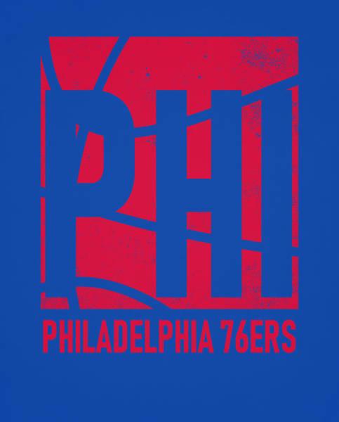 Vintage Poster Mixed Media - Philadelphia 76ers City Poster Art by Joe Hamilton