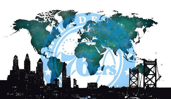 Digital Art - Philadelphia Basket In The World by Alberto RuiZ