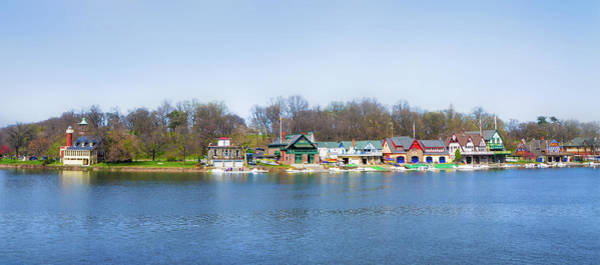 Photograph - Philadelphia - Boathouse Row In Panorama by Bill Cannon