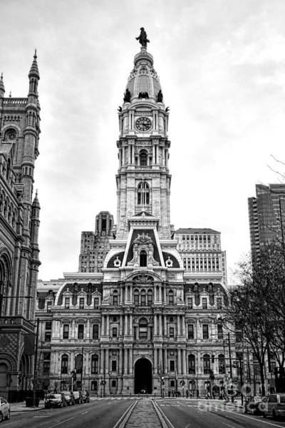 Photograph - Philadelphia City Hall Building On Broad Street by Olivier Le Queinec