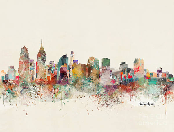 Philadelphia City Skyline Art Print
