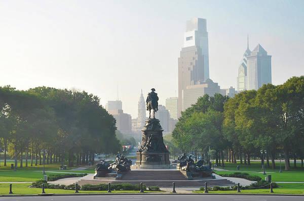 Wall Art - Photograph - Philadelphia Cityscape - Benjamin Franklin Parkway by Bill Cannon