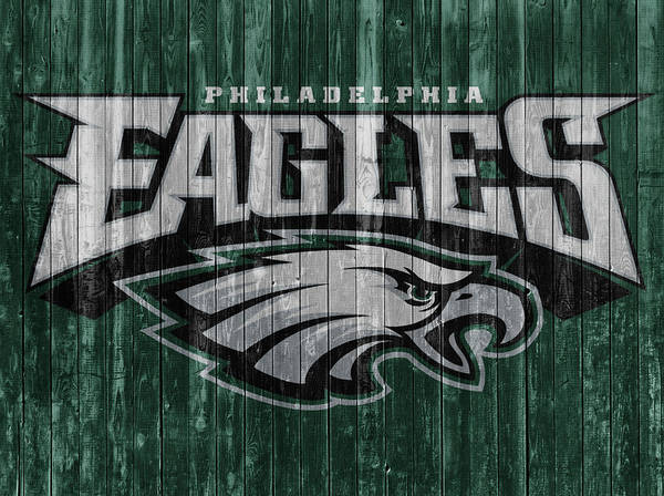 Wall Art - Mixed Media - Philadelphia Eagles Barn Door by Dan Sproul