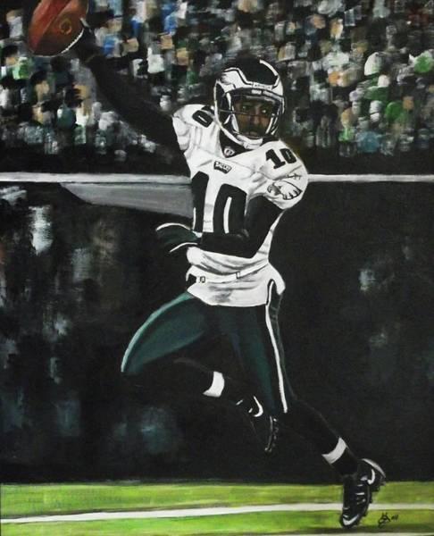Wall Art - Painting - Philadelphia Eagles Desean Jackson by Kim Selig