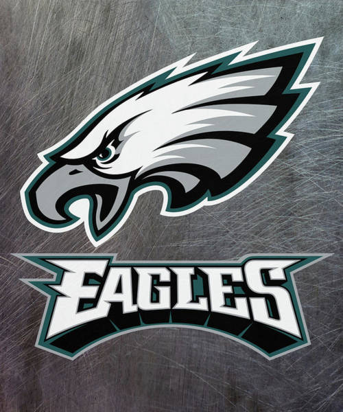 Mixed Media - Philadelphia Eagles On An Abraded Steel Texture by Movie Poster Prints