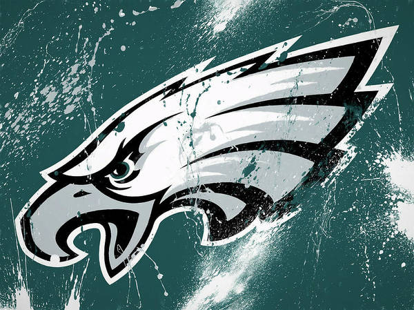 Wall Art - Painting - Philadelphia Eagles Paint Splatter by Dan Sproul