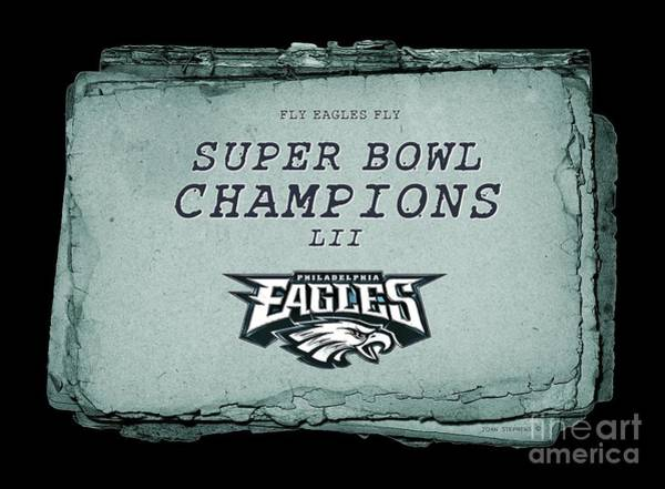 Wall Art - Photograph - Philadelphia Eagles Super Bowl Champions  L I I  Playbook With Transparent Background by John Stephens