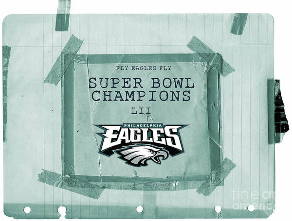 Wall Art - Photograph - Philadelphia Eagles Super Bowl Champions  L I I  Locker Room Tape Up Announcement by John Stephens