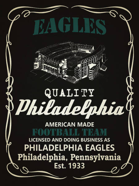 Super Bowl Mixed Media - Philadelphia Eagles Whiskey by Joe Hamilton