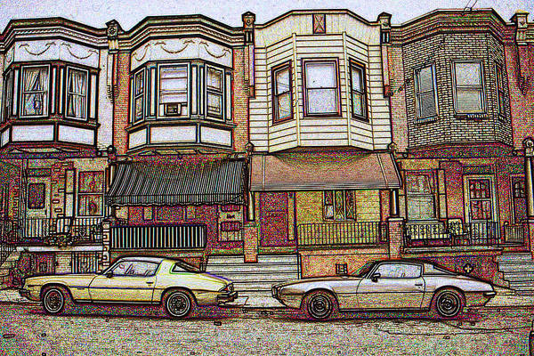 Drawing - Philadelphia Homes - Color Pencil by Peter Potter