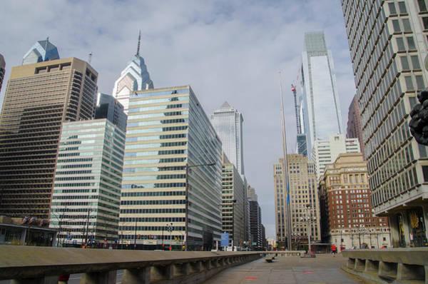 Photograph - Philadelphia - Looking Up Jfk Blvd by Bill Cannon