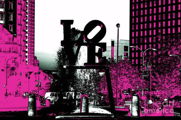 Brotherly Love Digital Art - Philadelphia Love Tote Bag by John Rizzuto