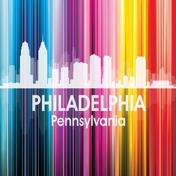 Digital Art - Philadelphia Pa 2 Squared by Angelina Tamez