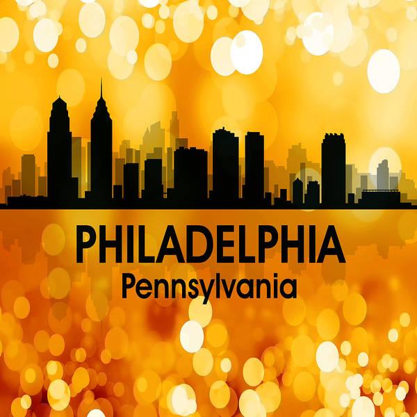 Mixed Media - Philadelphia Pa 3 Squared by Angelina Tamez