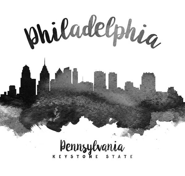 Wall Art - Painting - Philadelphia Pennsylvania Skyline 18 by Aged Pixel