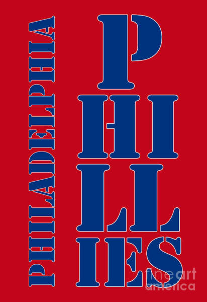 Citizens Bank Park Wall Art - Drawing - Philadelphia Phillies Typography by Drawspots Illustrations