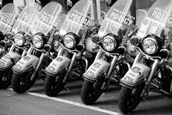 Photograph - Philadelphia Police In A Row by Alice Gipson