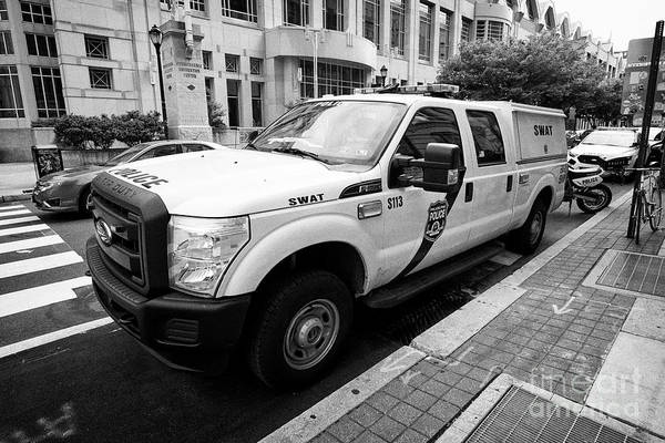 Ford Van Photograph - Philadelphia Police Swat Ford Truck Vehicle Usa by Joe Fox