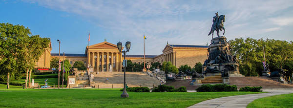 Photograph - Philadelphia Sights - The Museum Of Art Panorama by Bill Cannon