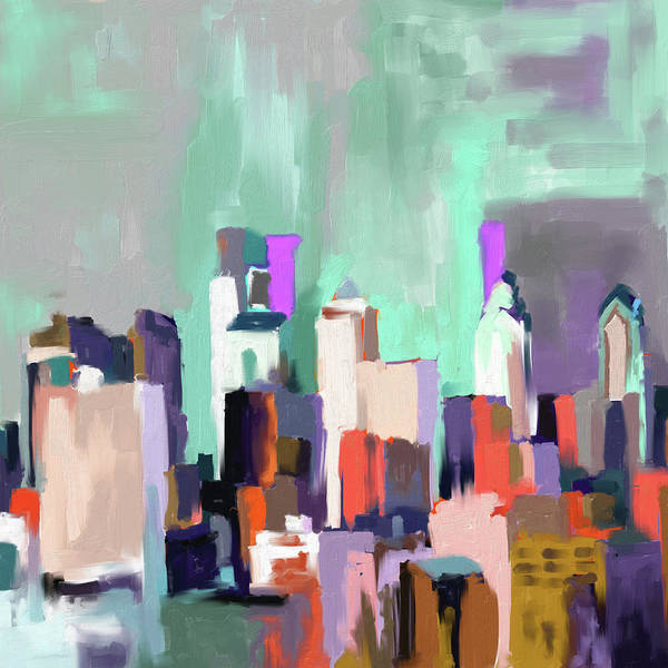 Wall Art - Painting - Philadelphia Skyline 650 3 by Mawra Tahreem