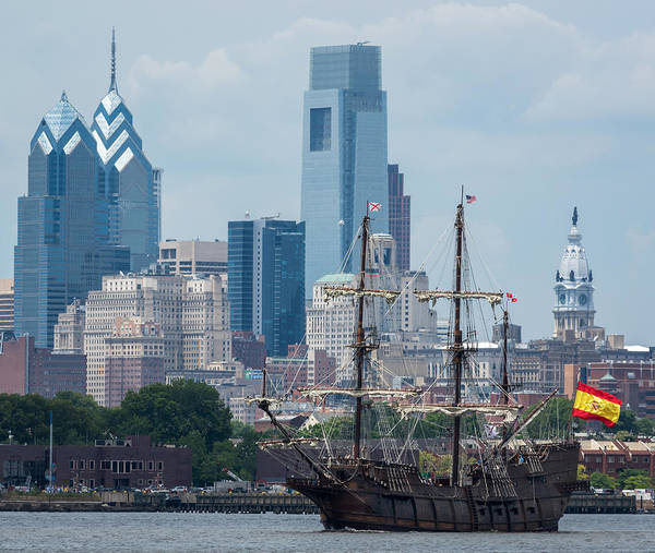 Photograph - Philadelphia Skyline El Galeon Andalucia by Terry DeLuco
