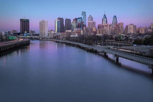 Photograph - Philadelphia Skyline Pastels by Susan Candelario