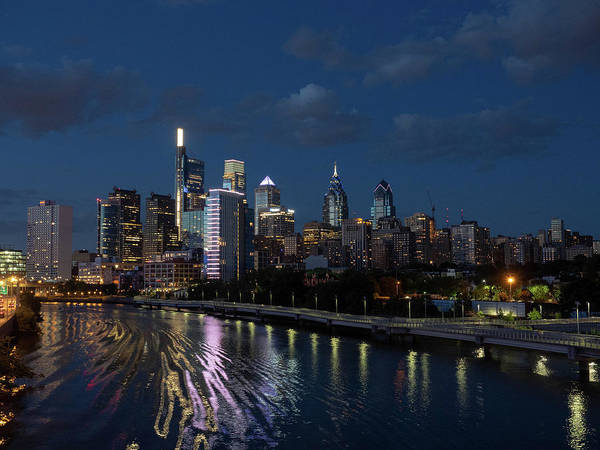 Photograph - Philadelphia Skyscape At Night by Louis Dallara