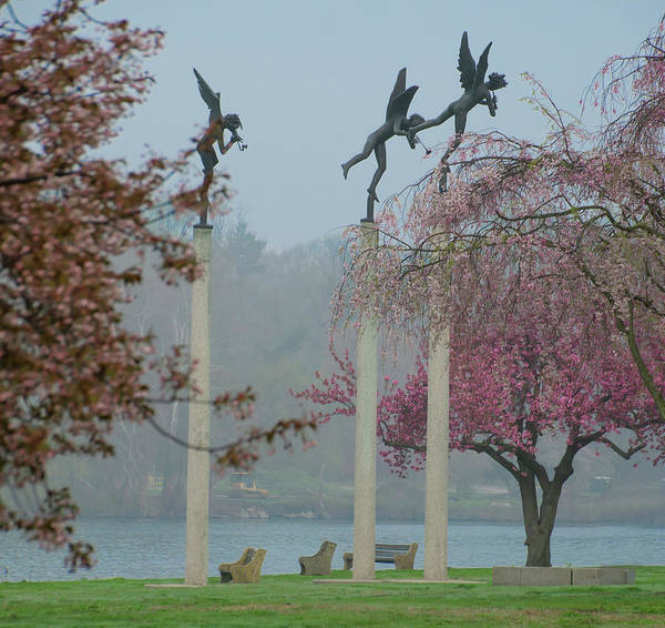 Photograph - Philadelphia - Three Angels In Spring by Bill Cannon