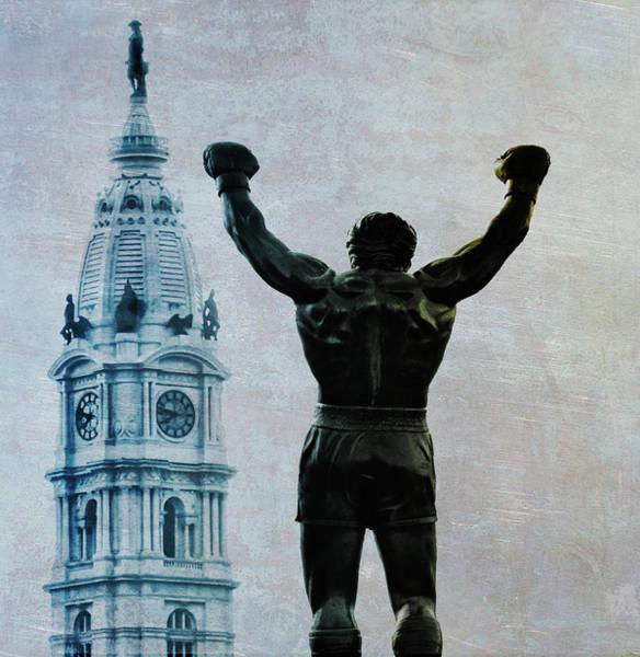 Cityhall Photograph - Philadelphias Champion - Rocky Balboa by Bill Cannon