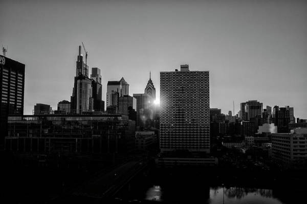Photograph - Phildadelphia Henge Sunrise In Black And White by Bill Cannon