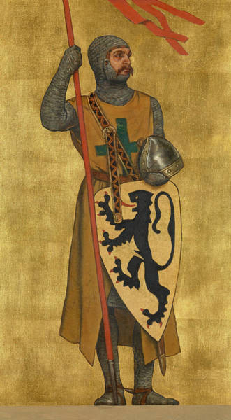 Alsace Wall Art - Painting - Philip Of Alsace by Albert De Vriendt