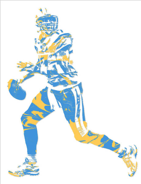 Rivers Mixed Media - Philip Rivers San Diego Los Angeles Chargers Pixel Art 5 by Joe Hamilton