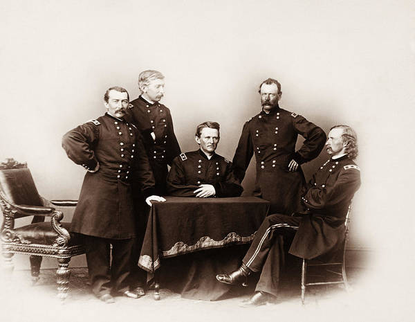 Forsyth Photograph - Philip Sheridan And General Custer - Civil War Cavalry Portrait by War Is Hell Store