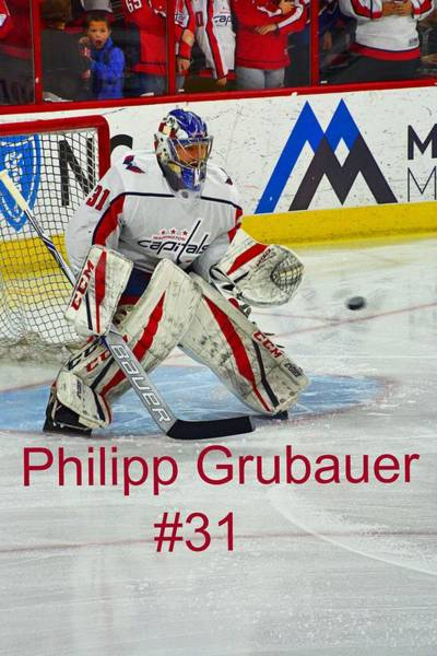 Photograph - Philipp Grubauer #31 by Lisa Wooten