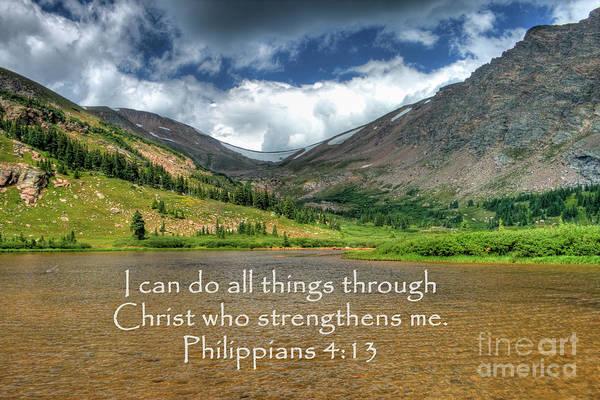 Photograph - Philippians 4/13 by Tony Baca