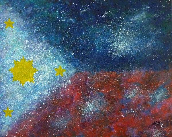 Painting - Philippine Flag by Amelie Simmons