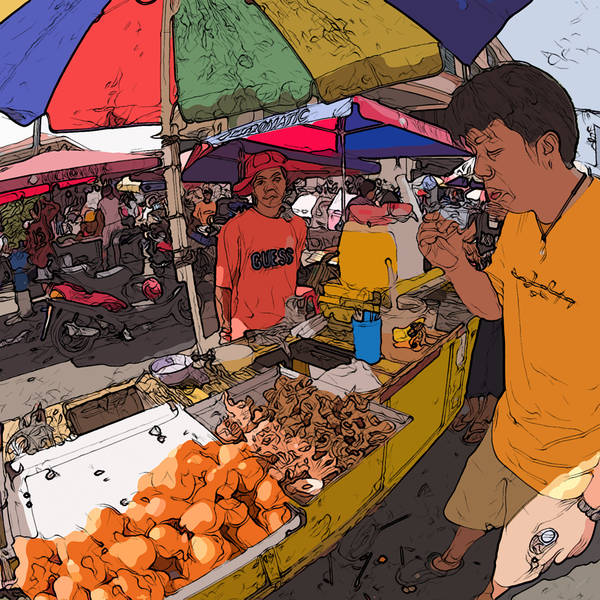 Painting - Philippines 1299 Street Food by Rolf Bertram
