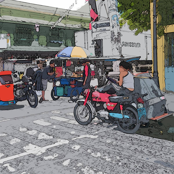 Painting - Philippines 673 Street Food by Rolf Bertram