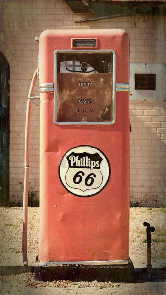 Wall Art - Photograph - Phillips 66 Vintage Gas Pump - Route 66 by Stephen Stookey