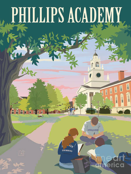 Wall Art - Painting - Phillips Academy Andover by Leslie Alfred McGrath