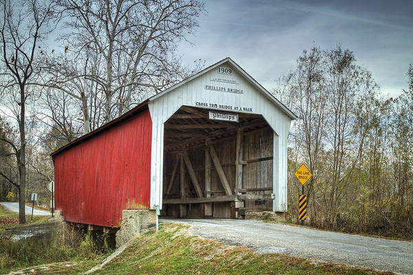 Photograph - Phillips Covered Bridge  by Jack R Perry