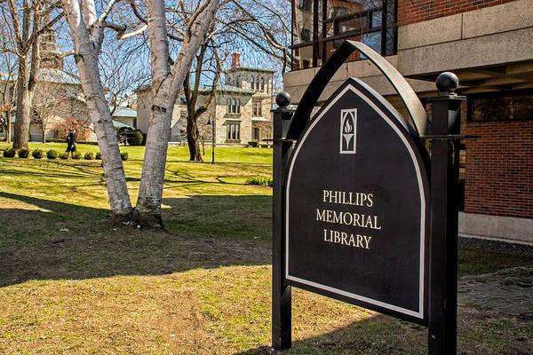 Photograph - Phillips Memorial Library Providence College by Nancy De Flon