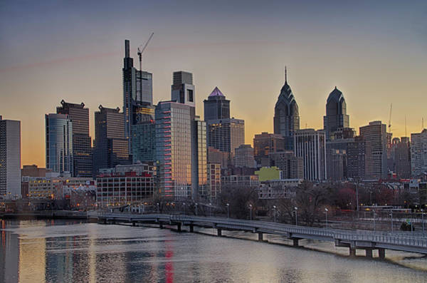 Wall Art - Photograph - Philly Before Dawn From South Street by Bill Cannon