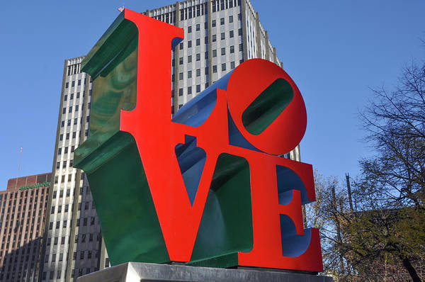 Wall Art - Photograph - Philly Esque  - Love Statue by Bill Cannon