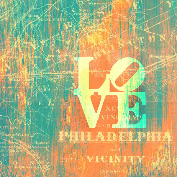 Teal Mixed Media - Philly Love V10 by Brandi Fitzgerald