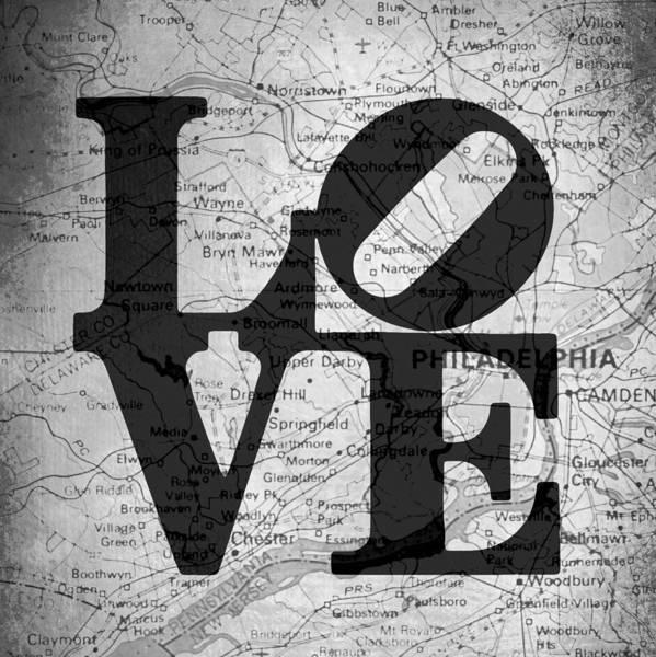 Brotherly Love Digital Art - Philly Love V13 by Brandi Fitzgerald