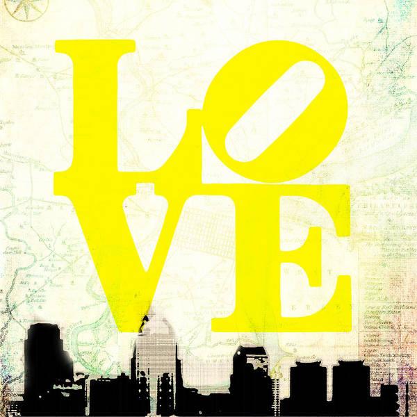 Brotherly Love Digital Art - Philly Love V14 by Brandi Fitzgerald