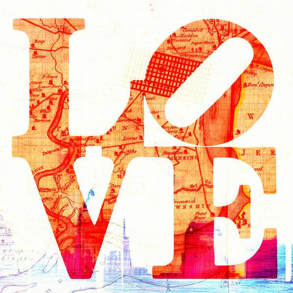 Brotherly Love Digital Art - Philly Love V4 by Brandi Fitzgerald