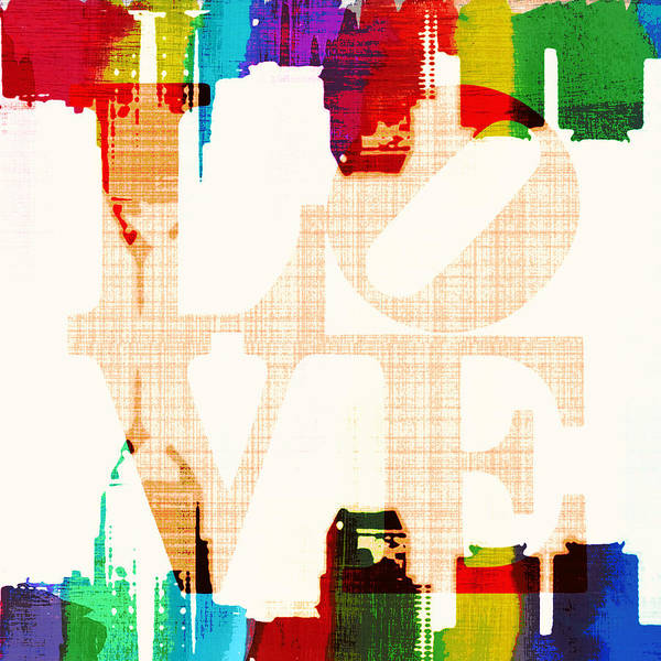 Brotherly Love Digital Art - Philly Love V5 by Brandi Fitzgerald