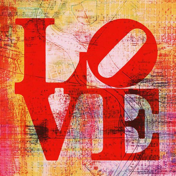 Brotherly Love Digital Art - Philly Love V6 by Brandi Fitzgerald